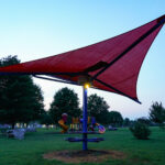 on Aug. 7, 2021 at Willard Park in Willard, MO NewTek Energy product photos sunset and twilight (Britney Strong)
